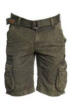 New AFFLICTION Men's Vintage Olive Green Hayden Cargo Summer Casual Shorts
