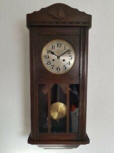 Wanduhr Pendeluhr Regulator Antik von Mauthe  ca 1920 guter gebrauchter Zustand