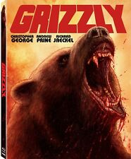 GRIZZLY Blu-Ray Limited Edition of 1500 + RARE Slipcover, GORY 1976 Jaws ripoff