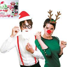 27pcs Christmas Photo Booth Props Photography Santa Photobooth Party Prop DIY