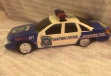 Vintage New Bright Battery Operated State Police Highway Patrol Vehicle Toy Car