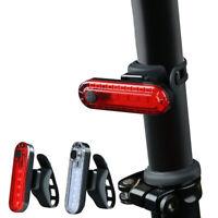 USB Rechargeable Bicyclette Vélo LED Queue Lumière SécuritéCycling Arrière Lampe