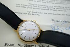 Omega Vintage 9k Solid gold gents watch with papers