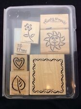 Stampin Up 2000 FRAMED FUN Limited Edition 7 Stamps Wound Mounted Sun Flower