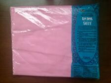 No-iron Muslin Twin Fitted Sheet PINK - NIP