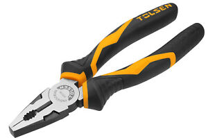 """Tolsen Combination Pliers Cutters Grips Forge Steel Gripro Handle 8"""" [200mm]"""