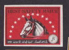 Ancienne  étiquette Allumette   BN25457 Cheval