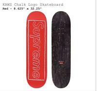 Supreme KAWS Chalk Red Logo Skateboard Deck