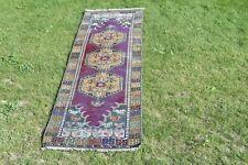 Vintage Turkish Runner Rug 3x10 ft Handmade Wool Rug Nomadic Rug Old Rug
