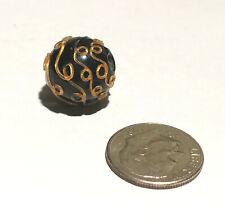 Antique Venetian Black Fancy African Glass Trade Bead
