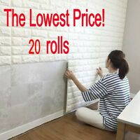 20……rolls 3D effect Stone Brick Wall Textured Vinyl Wallpaper Self-adhesive safe