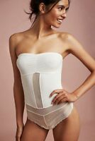 New  180 Anthropologie Touche Convertible Ivory Teddy Bodysuit Intimates  Size S 0395dc6d381b0