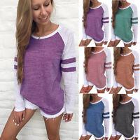 Women's Long Sleeve Casual Ladies Shirts Basic T-shirt Tops Plus Size Blouse Tee