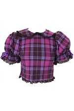 Purple Punk Tartan Dolly Top Phaze Clothing Gothic Goth Alternative Punk
