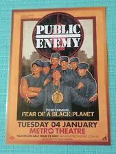 PUBLIC ENEMY - 2011 AUSTRALIA TOUR POSTER - LAMINATED PROMO POSTER - SYDNEY!