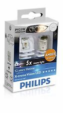 Philips X-treme Ultinon LED PY21W Amber turn indication 12764X2 BAU15s