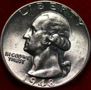 Uncirculated 1948 Philadelphia Mint Silver Washington Quarter