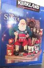 Kirkland Fabric Mache Santa wrapping Christmas presents VGC