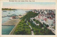 NEW YORK CITY – Riverside Drive and Hudson River