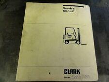 Clark Genesis Series Truck Forklift Service Manual   SM 598G