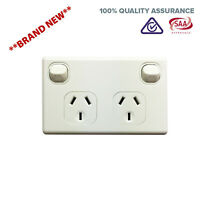 Double Pole 240V Power Point DGPO Outlet For Caravans, Trailers Switch NEW