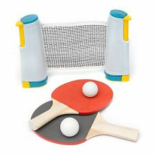 Portable Table Tennis Complete Game Set Retractable Net Paddles Balls Posts