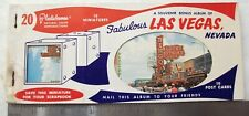 Vintage 1950's Las Vegas Nevada Casino post card booklet 10 pics colorful