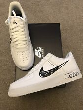Nike Air Force 1 Scribble UK10 US11 White Black BNIB