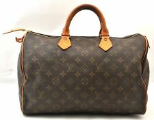 Authentic Louis Vuitton Monogram Speedy 35 Hand Bag M41524 LV A2631