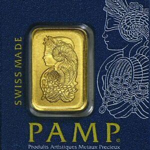 Gold Bar 1 Gram- PAMP Suisse - Fortuna - 999.9 Fine in Sealed Assay
