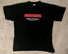 Vintage 1995 ASSASSINS PROMO Movie t shirt 90 S PROMO Sylvester Stallone Medium