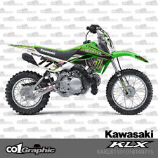 GRAPHICS DECALS STICKERS FULL KIT FOR KAWASAKI KLX 110 2010-2018