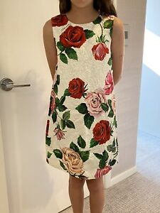 Dolce and Gabbanna brocade Girl's REVERSIBLE Floral Dress- Size 11/12