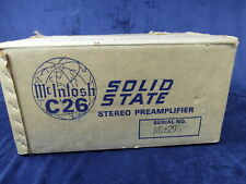 McIntosh C26 C 26 Stereo PreAmp PreAmplifier Box Only