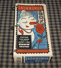 SNOWWOMAN in a Box Kit and Book EVERYTHING YOU NEED TO DRESS A SNOWWOMAN  NEW