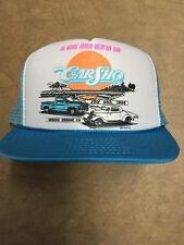Arroyo Grande CA Car Sho Club Show Vintage Trucker Hat 1994 White and Light Blue