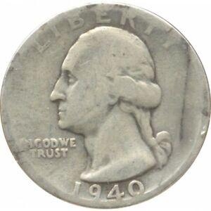 AMERIQUE ( U.S.A ) QUARTER DOLLAR (1/4 DOLLAR) 1940 S WASHINGTON QUARTER B