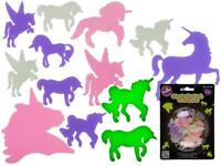 14x UNICORN GLOW IN THE DARK STICKERS Ceiling Wall Girls Room Filler Decor Party