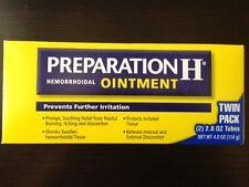 Preparation H Hemorrhoidal Ointment-Twin Pack 2 Tubes each 2 oz/ net 4 oz, 2018