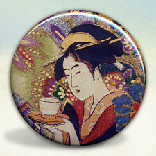 Geisha with Tea Japan Pocket Mirror tartx