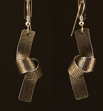 Knot Earrings by Steve Yellowhorse, Navajo