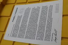 POWELL PERALTA Skateboards Feb 1991 BONES 8x11in. Clothing George Powell Letter
