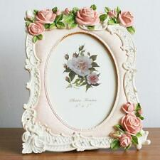 Retro Style Pink Rose Flower Home Photo Frame Picture Frame Resin 5'' X 7''