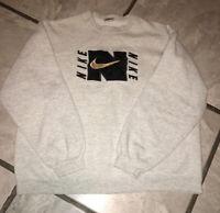 Vintage 90s Mens Nike Grey Sweatshirt Sweater Bootleg Sz XL Swoosh