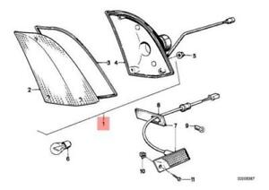 BMW E24 Coupe Left Turn Corner Light 1372365 63131372365 NEW