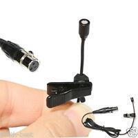 Micro Mini 3Pin XLR Lavalier Lapel Microphone for AKG Samson