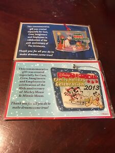 Cast Member Exclusive DISNEY Family Holiday Celebration Ornament Lot 2013 2015