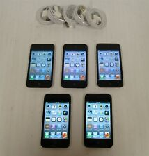 Lot of 5 Black Apple iPod touch (4th Gen) 8Gb Mp3 Players A1367 Bundle