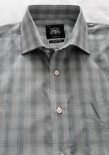Men's Savile Row Formal / School / Casual Shirt -Green Cross Check - 16.5'' BNWT