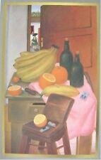 Fernando Botero Lithograph Poster Still Life With Fruit Circa 1980's